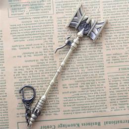 giochi di armi Sconti 17 cm Gioco League Of Legends il Defender of Tomorrow Jayce Hammer Arma Portachiavi LOL Sword Modello Ciondolo Portachiavi Regalo di Fascino