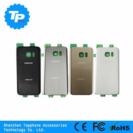 Canada Nouvelle porte arrière couvercle de la batterie pour Samsung Galaxy S7 G930 S7 Edge G935 arrière boîtier en verre couverture arrière avec Adhensive Offre