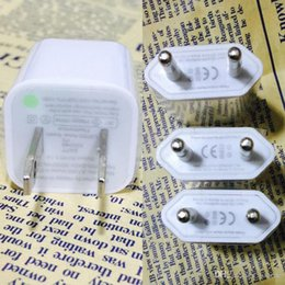 Wholesale apple charger original eu - High Quality Original iPhone USB Wall Charging Chargers Cube Adapter USB Wall Charging Charger For Iphone 4s 5s 6s  6splus  7s 7s plus