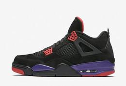 Discount superman cotton fabric - 2018 Newest Best Quality 4s Raptors Mens Basketball Shoes 4s Black University Red-Court Purple 4 Superman Fashion Sports Shoes AQ3816-056
