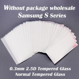 S6 protezione a schermo temperato online-Pellicola salvaschermo in vetro temperato temperato da 2,5 mm 2,5 pollici per Samsung S serie S3 S4 S5 S6 bordo S6 Bordo S7 S7 S8 S8 Plus S9 S9 plus S8 attivo