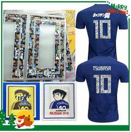 Wholesale cartoon xxl - Cartoon number 2018 Japan soccer jersey ATOM Japan Tsubasa KAGAWA OKAZAKI NAGATOMO KAMAMOTO Football woman Captain Tsubasa maillot Shirt