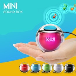 Wholesale Mini Seven - PROMOTION Seven color breathing lamp private model small Apple Mini outdoor travel crystal ball small sound box