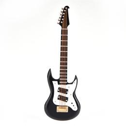 """Canada Mini guitare électrique personnalisée avec des ornements décoratifs de collection d'instruments de musique en bois miniatures de soutien 1/6 (12 """") Figurine Offre"""
