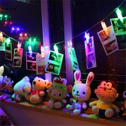 Wholesale mini photo led light - Mini LED DIY Photo Clip String Christmas lights new year party wedding home decoration clip photo string lights led christmas clip lights