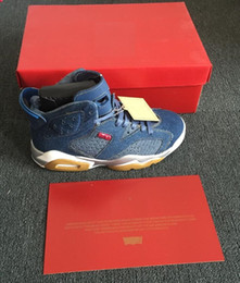 Wholesale Christmas Sail - DENIM 6s jeans 6 DENIM SAIL GAME RED JEAN DENIM SAIL GAME ROUGE Basketball shoes With Box Men size Basketball Shoes Free shipping