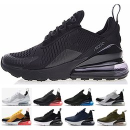 Wholesale navy blue glitter shoes - 2018 men Women 270 shoes Triple Black Core White Hot Punch Running Shoes Teal Midnight Navy Photo blue mens 270 Sneaker Sports shoes