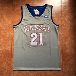 5f5c865bd78  21 Joel Embiid Kansas Jayhawks KU College Basketball Jersey Men s  Embroidery Stitches Customize any Number and name jerseys