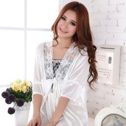 97f0c5c03c 2016 New White Women Nightgown Sexy Short Nightgowns Twinset Plus Size  Nightgowns Women Lace Nightwear Silk Sleepwear Dress 48