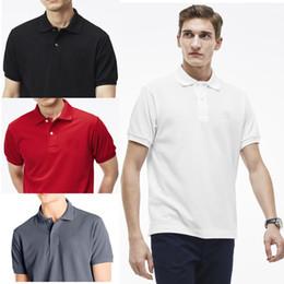 Argentina Venta caliente Nueva Marca 2018 Cocodrilo Clásico Buena calidad Polo Hombres Camisa de manga corta Camisas casuales Hombre Camisa Sólida Plus Camisa Polo Suministro