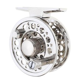 Reparto de moscas online-Silver Full Metal Die Casting 60 # 2 + 1BB 1: 1 Fly Fishing Reel Aparejos de pesca Raft Ice Reel