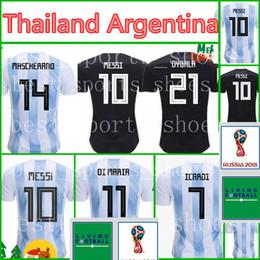 Wholesale shirt football argentina - Thailand 2018 World cup ARGENTINA Soccer Jerseys camisa de futebol 10 MESSI Jersey DYBALA HIGUAIN DI MARIA ICARDI Football soccer shirt