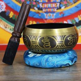 Ciotola per la meditazione Chakra dell'Himalaya Ciotola per cantare del Nepal Buddista Yoga con attaccante e cuscino da