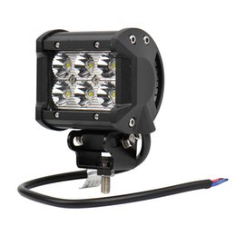 Wholesale Led Driving Lights 4wd - 2017 4inch 18W 6LEDs CREE LED Work Light Bar SUV ATV 4WD 4x4 JEEP Spot Flood Beam Off Road Driving Fog Lamp lights