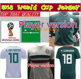 Wholesale player version - Top quality 2018 World Cup Mexico Player Version home Soccer jersey Chicharito LOZANO LAYUN football shirt 18 19 Mexico away football shirts