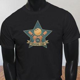 Bowling Star Support Dropship League Pins Strike Sport para hombre camiseta negra Camiseta de hombre Top diseño Manga corta Moda Custom Custom XXXL Fan de película desde fabricantes