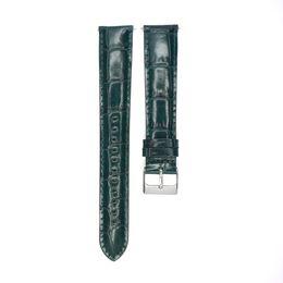 20mm Uhrenarmband italienischen Kalbsleder echtes Leder Uhrenarmband grün lange Verlängern erweitern Uhren Gürtel für Biger Handgelenk von Fabrikanten