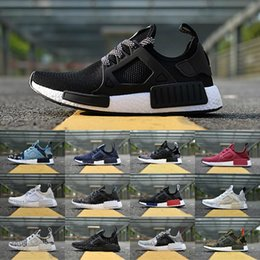 Wholesale day japan - 2018 New Original NMD_XR1 PK Running Shoes Cheap R1 NMD XR1 Runner japan Primeknit OG PK Zebra Blue Black White Men Women Sneakers