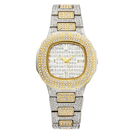 Wholesale multi clock - Brand Watch Quartz Ladies Gold Fashion Wrist Watches Diamond Stainless Steel Women Wristwatch Girls Female Clock Hours