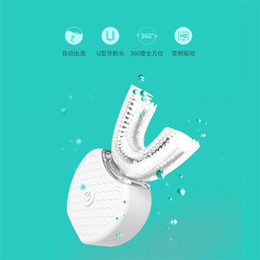 Wholesale sonic tooth brushes - Blue Light Automatic Electric Toothbrush Soft Silicone Brush Waterproof Travel Fashion Sonic Vibration 360 Full Angle Oral Hygiene Teeth