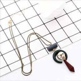 Wholesale Chain Mail Necklace - CCB simple winter sweater Beaded pendants Xiangshi personality retro Chain Necklace NEW frosted rod bag mail promotion