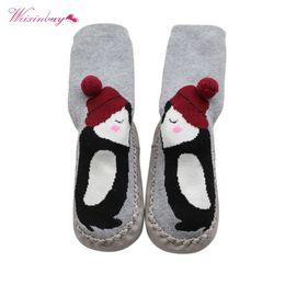 Wholesale Cartoon Baby Floor Socks - WEIXINBUY Winter Unisex Baby Floor Socks Cute Cartoon Pattern Kid Children Unisex Baby Floor Socks Warm Boy Girl
