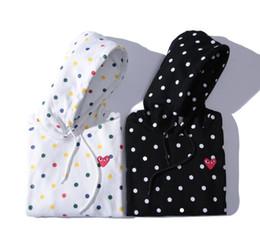 Остроконечный свитер онлайн-Европа и Соединенные Штаты в японском стиле любовь вышивка с капюшоном цвет волны точка Терри материал свитер тонкий раздел свитер мужчин и wome
