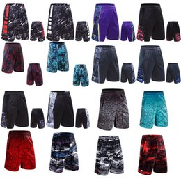 Wholesale wine air - 2018 new basketball shorts, sports shorts, men's summer air permeability, thin, fast dry, loose big code, five pants.