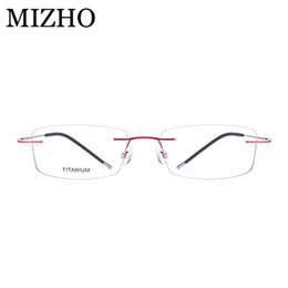 98d0178253b MIZHO Brand Super Light Optical Glasses Frame Women Business Boutique  Rectangle Eye glasses Frame B Titanium Strong Durable 2018