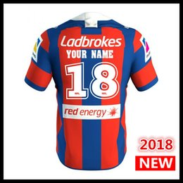Wholesale flash custom - Custom names and numbers 2018 NEWCASTLE KNIGHTS home rugby Jerseys NRL National Rugby League shirt nrl jersey shirts s-3xl