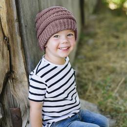 cappelli di inverno bella ragazza Sconti 8 pezzi di lana calda per bambini cappelli ragazze pieghe berretti invernali casuali morbidi berretti caldi MZ39