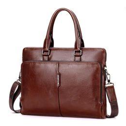 "Deutschland Männer Business Leder Aktentasche Schulter Messenger Bag für 14 ""Laptop Männer Crossbody Aktentasche Taschen Mann Handtasche Messenger Bags Versorgung"