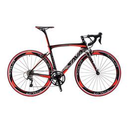 Wholesale Complete Carbon Bikes - SAVA 700C Carbon Fiber Road Bike Complete Bicycle Carbon Cycling BICICLETTA Road Bike SHIMANO SORA M3000 18 Speed Bicicleta MF approval