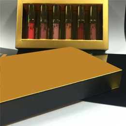 Argentina ¡En stock! Marca famosa Edición de Cumpleaños Kit de Labios Mate Lápices Labiales Líquidos 6 unids set mini kit de lipgloss DHL envío gratis Suministro