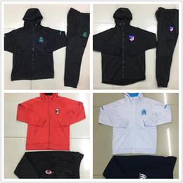 Wholesale Men S Suit Jacket Coat - Real Madrid Soccer jerseys Jacket 17 18 AC Milan DYBALA hooded SUIT Coat Zipper jackets tracksuits sports wear