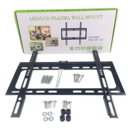 "Wholesale Wall Mount For Lcd - LED   LCD Plasma TV Wall Mount Flat Panel Fixed Screen TV Bracket Hanging Rack Holder Suitable For 26"" - 63"" TV Hanger"