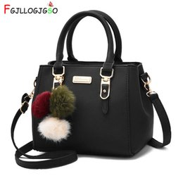 FGJLLOGJGSO brand women hairball ornaments totes solid sequined handbag Hot  party purse lady messenger crossbody shoulder bags Y18102404 5006b2829f5ca