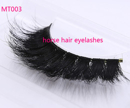 Wholesale Horse Hair Extensions - private logo Horse Hair False Eyelashes 100%Handmade with High Quality Super Thick Long Eye Extension for Makeup