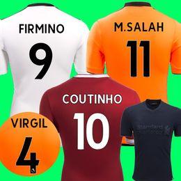 Wholesale Quick Stop - Thailand VIRGIL 4 soccer Jerseys 2017 2018 SALAH Football Shirt Mane COUTINHO LALLANA FIRMINO Lucas Sturridge shirts Football Jersey 17-18