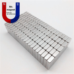 Wholesale Magnet Neo - 100pcs N35 8*3*2mm permanent magnet 8*3*2 super strong neo neodymium block 8x3x2 NdFeB magnet 8x3x2mm with Nickel coating anti rust
