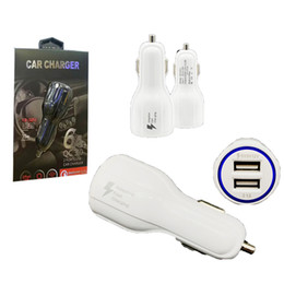 Wholesale 12 24v Usb Car Charger - QC3.0 Fast Charge 3.1A 1Qualcomm Quick Car Charger LED Dual USB Fast Charging Phone Charger+Cable DC 12-24V with Retail Package
