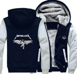 Новый Metallica толстовка теплый флис сгущаться куртка молния пальто толстовка с капюшоном кофты до современных куртки от
