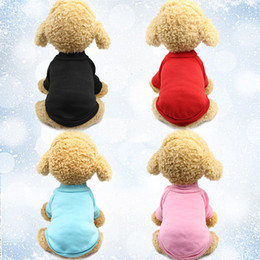 Suéter rosa suave online-Pet Dog Knitwear Sweater Fleece Coat para pequeño mediano grande Dog Warm Pet Dog Cat Clothes suave Puppy Customes 3 color (rojo rosa negro) Selec