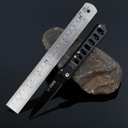 Outdoor autodifesa coltello pieghevole semi-automatico campeggio pesca alpinismo high-hard spazio alluminio campeggio tattico pugnale antiscivolo m da coltelli da montagna fornitori