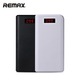 2019 mobile backup REMAX Mobile Power Bank 30000 mAh 2 USB LED Tragbares Ladegerät Externe Batterie Universal Backup-Energien für iPhone 6 s plus Samsung rabatt mobile backup