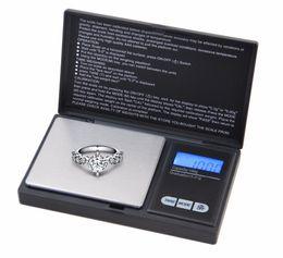 Escala de recarga online-Escalas Digitales de Precisión 100g x 0.01g Recarga de Grano de Polvo de Joyería Carat Negro con Tres Modos de Pesaje Escala de Banco de Escala de Bolsillo
