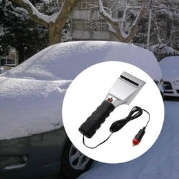 12V Car Truck SUV Electric Heated Snow Defrost Windshield Ice Heated Car Ice Scraper Snow Removal Shovel Windshield Glass Defrost Clean