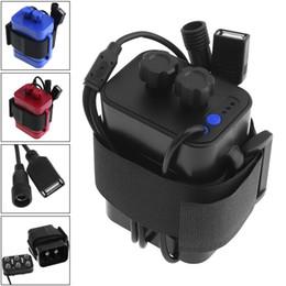 Argentina Caja de la caja de batería impermeable portátil con interfaz USB Soporte 6 x 18650 Batería para bicicleta Luz LED / Teléfono móvil BTY_A02 Suministro