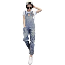 6bc89d5352a 2018 summer denim jumpsuits women vaqueros romper long pants jeans demin skinny  overalls suspender female catsuit