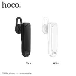 Wholesale Telephone Headset Bluetooth - HOCO Brand E25 Bluetooth Headset 4.2 In Ear Movement Music Telephone Wireless Bluetooth Headset With Retail Package
